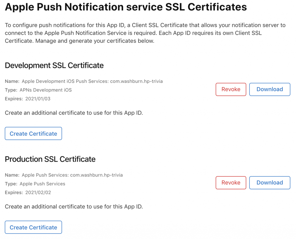 generate apple push notification service certificate
