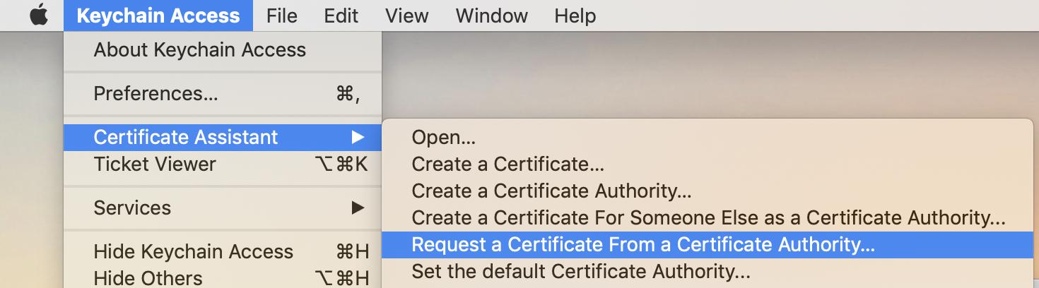 request apple push notification certificate