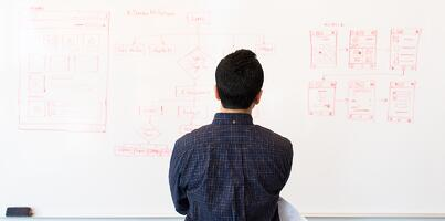 Picture of person doing app design / software app planning